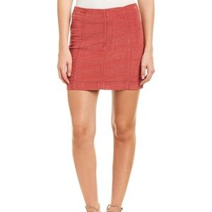 Pink corduroy free people skirt